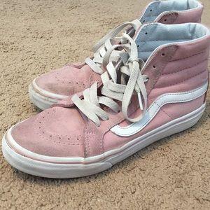 light pink vans sk8 highs
